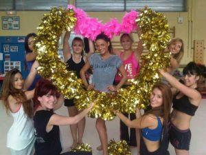 cheerleading hen party dance class