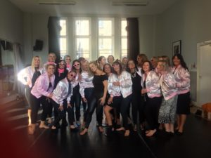 grease hen party dance class liverpool